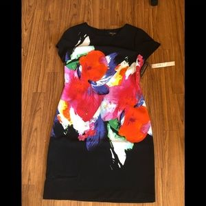 Voir Voir Black Colorful Flower Dress